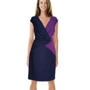 Ralph Lauren Sleeveless Sheath Blue/Purple Dress